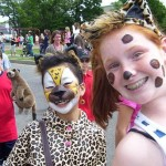 Middle-school girls dressed up as animals