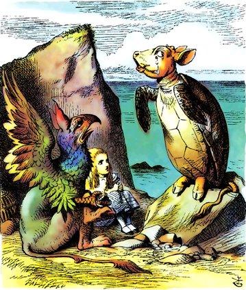 Mock turtle, from Alice in Wonderland